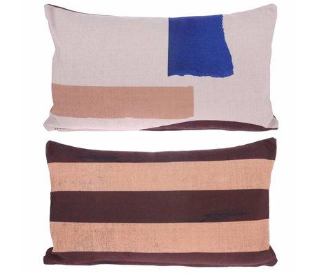 HK-living Coussin abstrait Abstrait coton multicolore 35x60cm