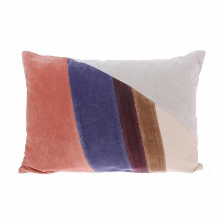 HK-living Patch coussin multicolore velours B 35x50cm