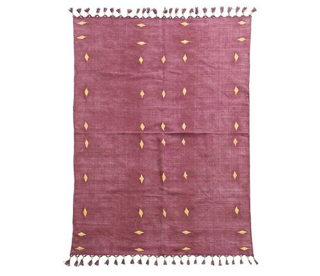 Housedoctor Tapis Backside vin rouge coton 200x140cm