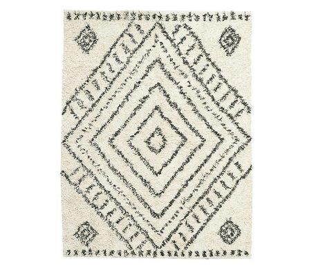 Housedoctor Teppich Nubia gebrochene weiße Baumwolle 210x160cm