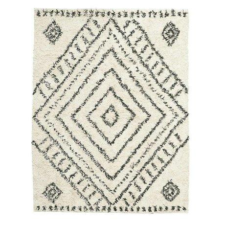 Housedoctor Tapis Nubia en coton blanc cassé 210x160cm