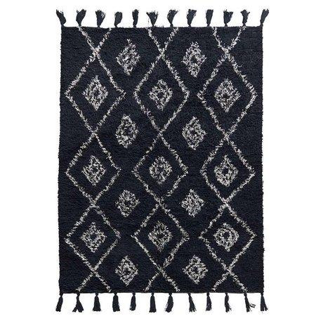 Housedoctor Teppich Marlie schwarze Baumwolle 200x140cm