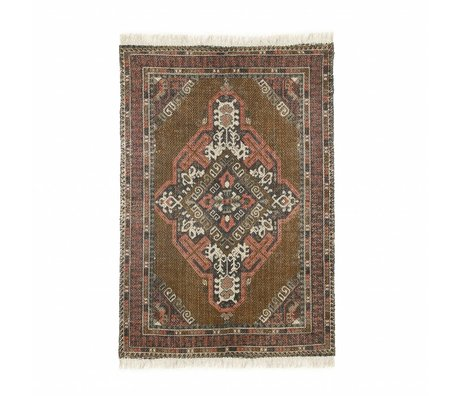 HK-living Carpet Stonewashed multicolour cotton jute 120x180cm