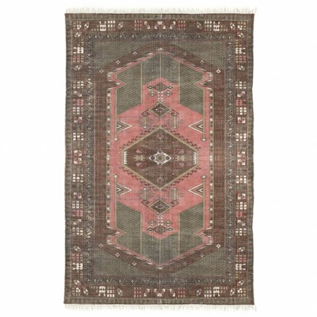 HK-living Teppich Stonewashed mehrfarbiger Baumwolle 120x180cm