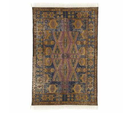 HK-living Rug Stonewashed multicolour cotton jute 120x180cm
