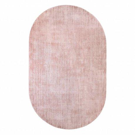 HK-living Vloerkleed ovaal nude roze viscose 150x240cm
