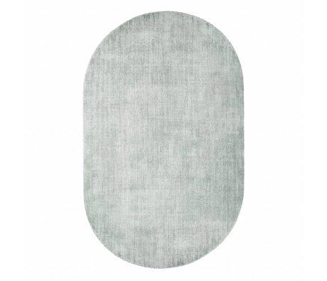 HK-living Carpet oval mint green viscose 150x240cm