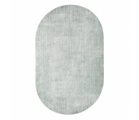 HK-living Teppich oval mintgrün Viskose 150x240cm