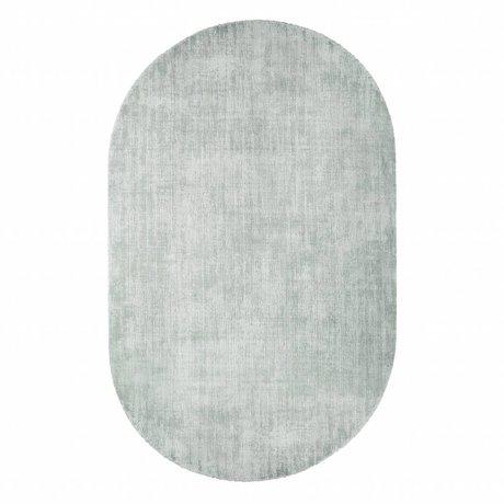 HK-living Tapis ovale menthe vert viscose 150x240cm