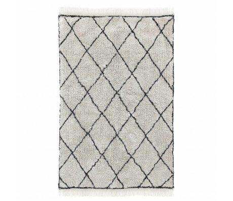 HK-living Teppich Diamant schwarz creme Baumwolle 120x180cm