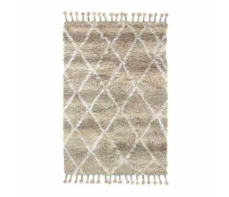 HK-living Rug Berber natural brown wool 120x180cm