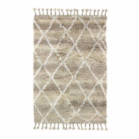 HK-living Tapis berbère en laine naturelle brune 120x180cm