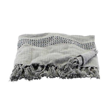 Housedoctor Plaid Kolonia coton gris 180x130cm