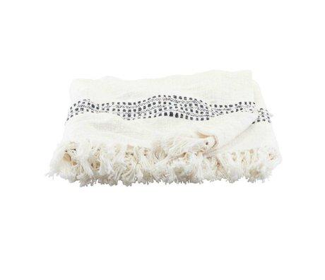 Housedoctor Plaid Kolonia gebrochene weiße Baumwolle 180x130cm