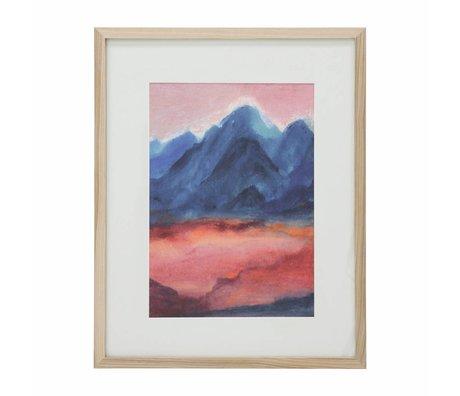 HK-living Fotolijst Tiny art frame L: Sunset 39x49x1,5cm