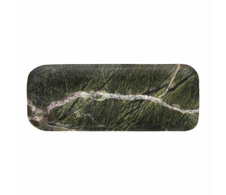 HK-living Schneidebrett grüner Marmor 30x12x1,5cm