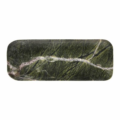 HK-living Cutting board green marble 30x12x1,5cm
