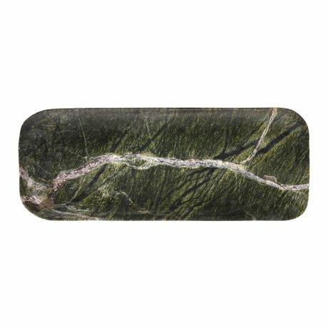 HK-living Planche à découper en marbre vert 30x12x1,5cm