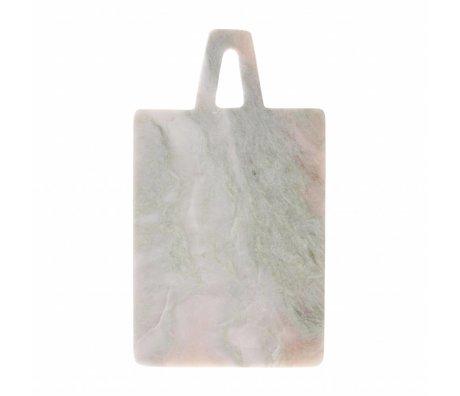 HK-living Planche à découper vert marbre rose 17x30x1,5cm