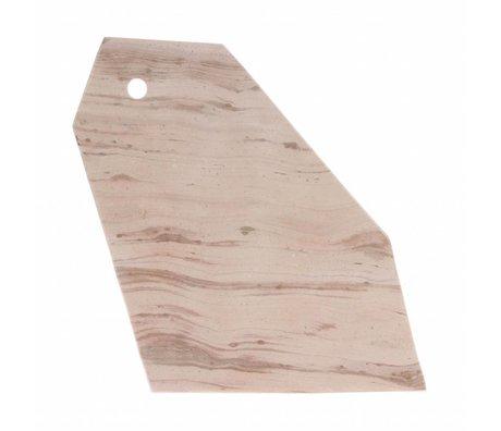 HK-living Schneidebrett rosa Marmor 32x18x1,5cm