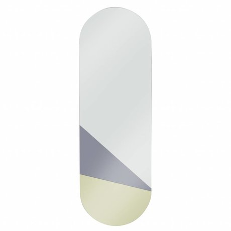 HK-living Spiegel Ovaal L goud grijs 35x106x1,5cm