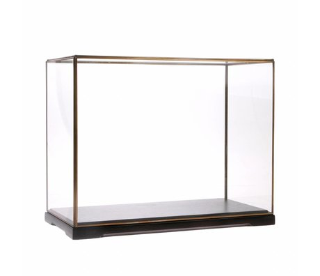 HK-living Glass bell L transparent glass metal 40x20x32cm