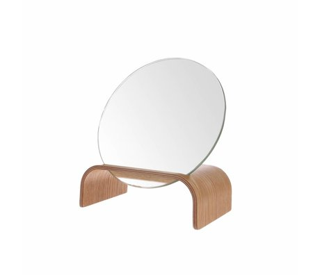HK-living Mirror standard brown willow wood 17x10x20cm