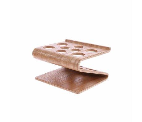 HK-living Pennenhouder bruin wilgenhout 12x10x6cm