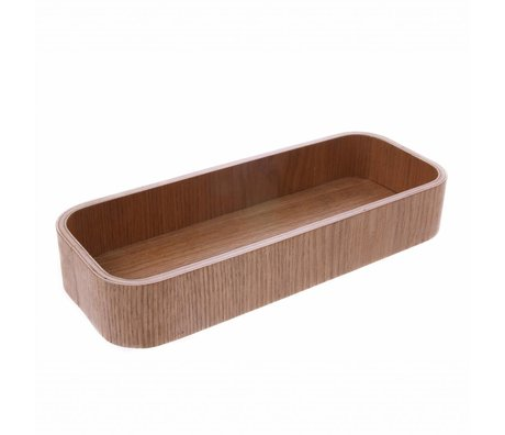 HK-living Bowl L brown willow wood 23x8,5x3,5cm