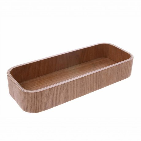 HK-living Tray L brown willow wood 23x8.5x3.5 cm