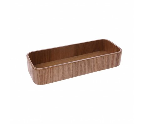 HK-living Bowl S brown willow wood 19x7x3,5cm