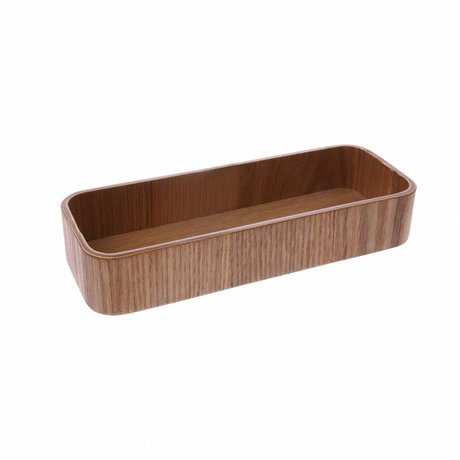 HK-living Tray S brown willow wood 19x7x3.5cm