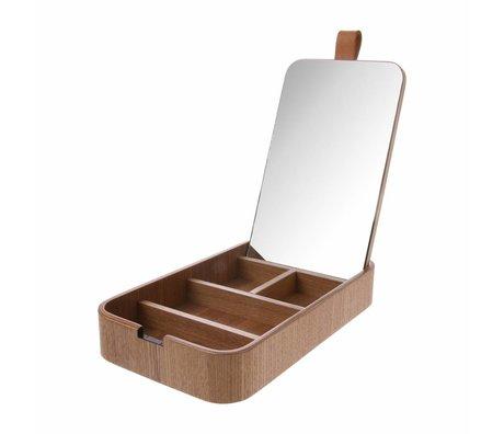HK-living Spiegelablage braunes Weidenholz 23x13x3,5cm