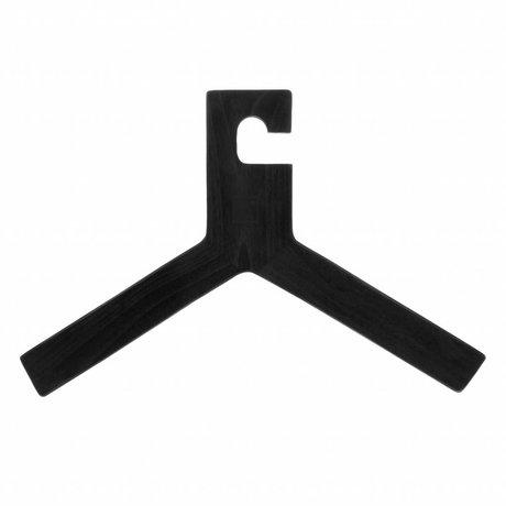 HK-living Kledinghanger zwart hout 45,5x30x1,3cm