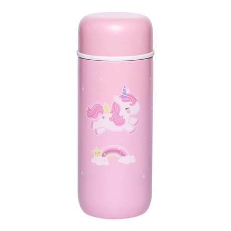 A Little Lovely Company Trinkflasche Einhorn rosa Edelstahl Ø6,5x16,7cm