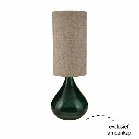 Housedoctor Big green glass lamp base 34x34x64cm