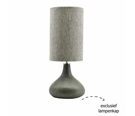 Housedoctor Lampe base Diya vert 26x34cm