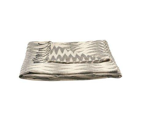 Housedoctor Tagesdecke Totem grau Baumwolle 260x140cm