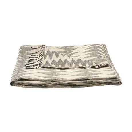 Housedoctor Couvre-lit Totem gris coton 260x140cm