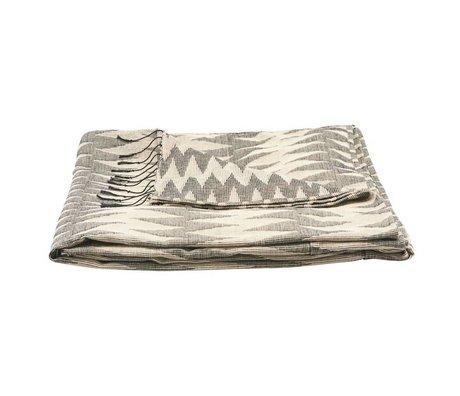 Housedoctor Bedsprei Totem grijs katoen 260x260cm