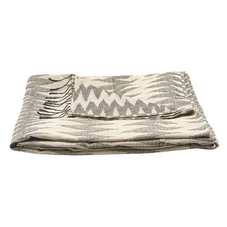 Housedoctor Couvre-lit Totem gris coton 260x260cm