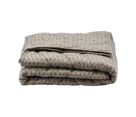 Housedoctor Plaid Ninna coton gris polyester 180x130cm