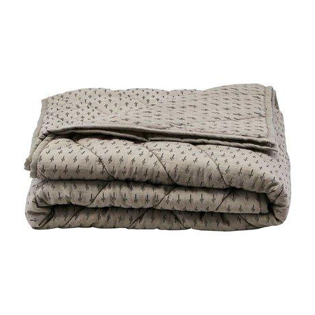 Housedoctor Plaid Ninna gray cotton polyester 180x130cm
