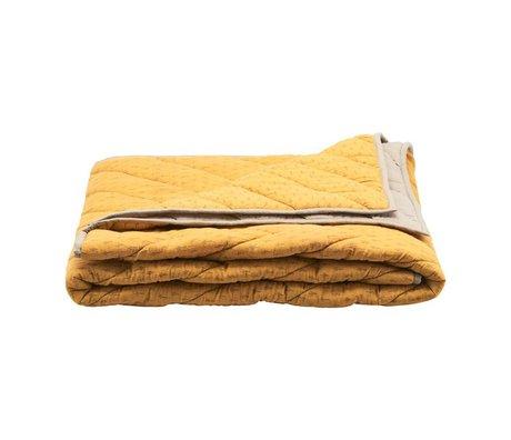 Housedoctor Plaid Ninna mosterd geel katoen polyester 180x130cm
