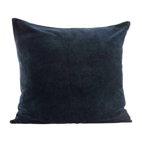 Housedoctor Kissenbezug Velv dunkelblau Velvet 60x60cm
