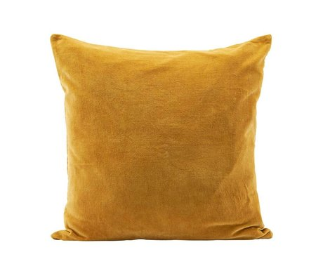Housedoctor Housse de coussin Velv curry jaune velours 60x60cm