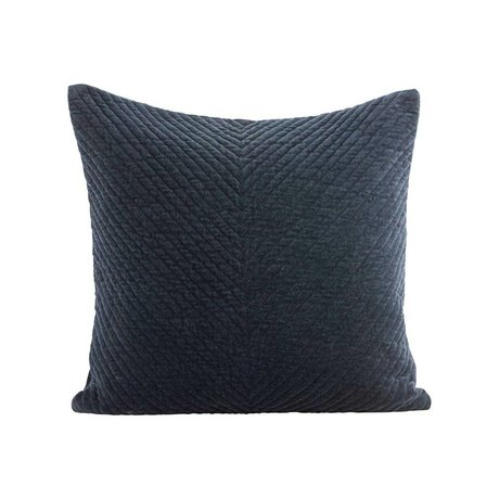 Housedoctor Cushion cover Velv dark blue cotton 50x50cm