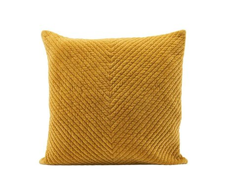 Housedoctor Housse de coussin Velv curry jaune coton 50x50cm