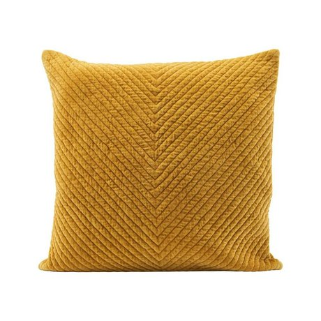 Housedoctor Cushion cover Velv curry yellow cotton 50x50cm