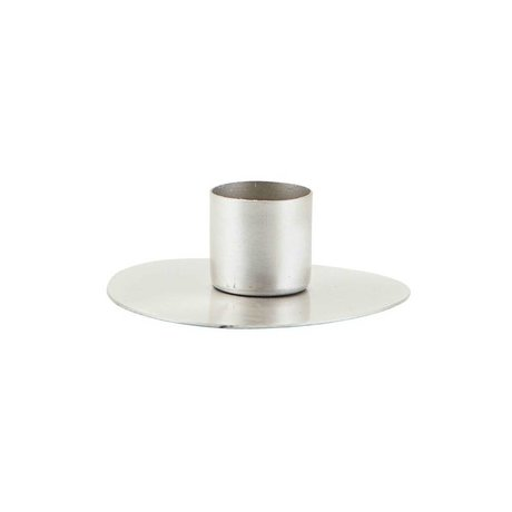 Housedoctor Candlestick Circle silver steel Ø7cm